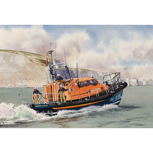 Oliver Pyle - Swanage Lifeboat Off Ballard Point (Original)