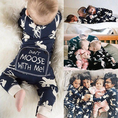 Don't Moose With Me Printed Infant Baby Romper - The Pickle and Potato