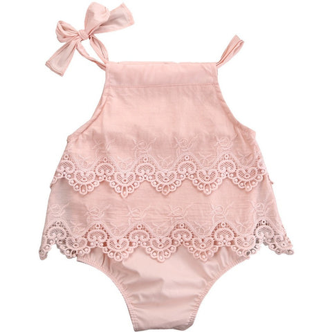 Girls Lace Infant Bodysuit Baby Romper - The Pickle and Potato