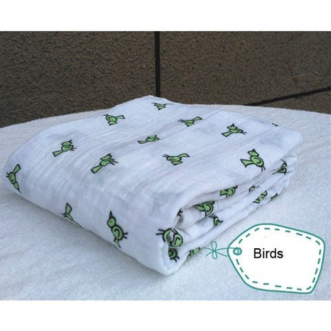 Muslin Baby Swaddle Blanket Cotton & Bamboo - The Pickle and Potato