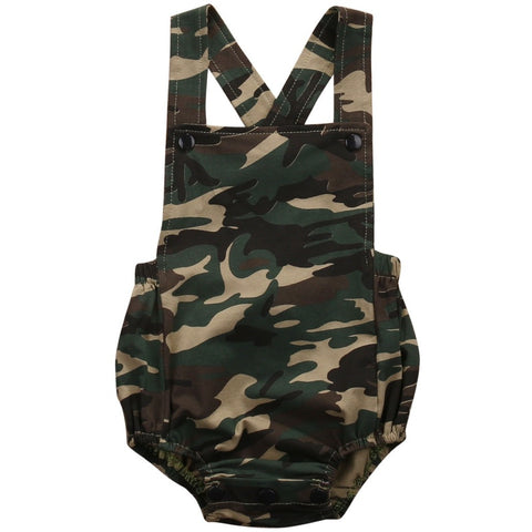 Baby Summer Camo Sunsuit - The Pickle and Potato