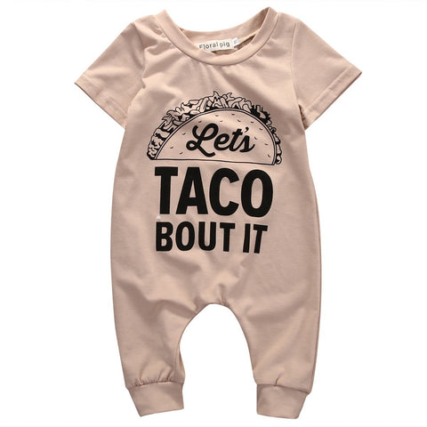 Let's Taco bout It Printed Baby Romper - The Pickle and Potato