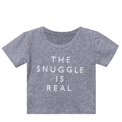 The Snuggle Is Real Printed Infant Tshirt - The Pickle and Potato