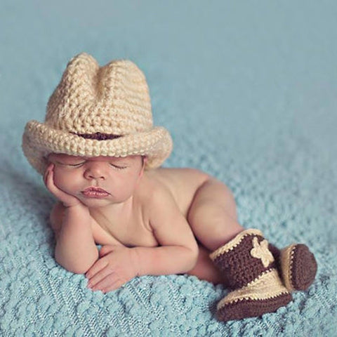 Newborn photography prop the cowboy the pickle and potato