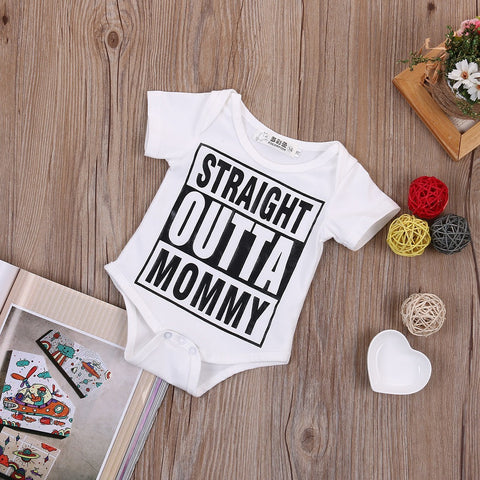 Straight Outta Mommy Printed Baby Romper - The Pickle and Potato