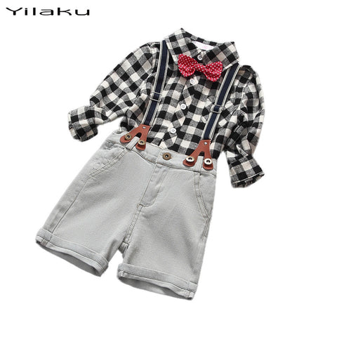 Baby Boy Plaid shirt + shorts 2pc set - The Pickle and Potato