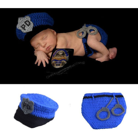 Newborn Photography Prop -  Police Officer