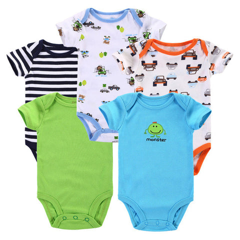 Set of 5 Baby Boy Rompers - The Pickle and Potato
