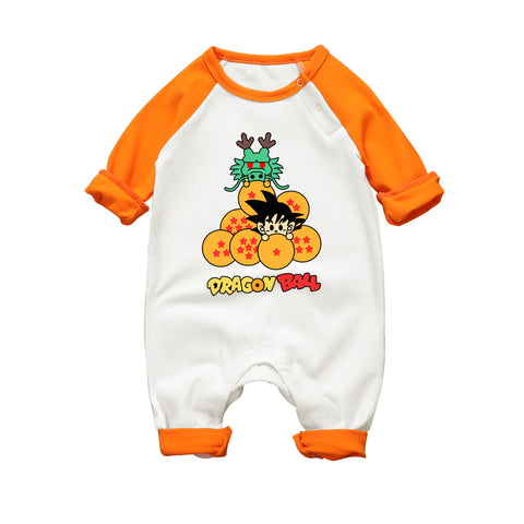 Anime Dragon Ball Baby Romper Long Sleeve Baby
