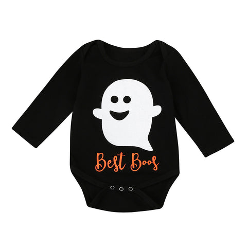 Best Boos Fall Baby Romper - The Pickle and Potato