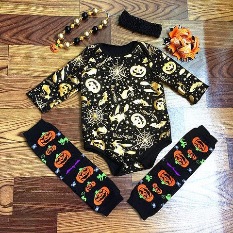 Halloween - Fall BabyGirl Clothing Set