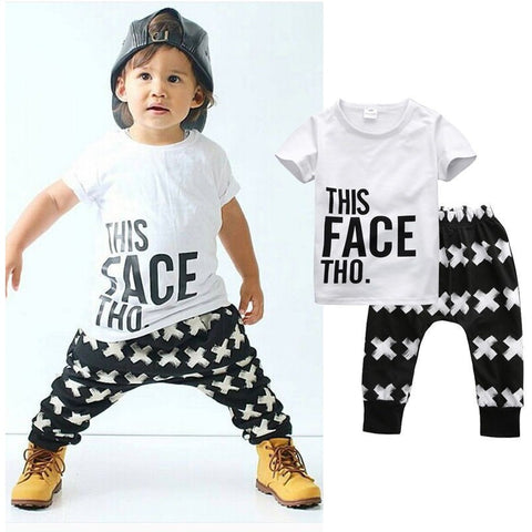 Baby Boy Tshirt and Pants 2pc set - The Pickle and Potato