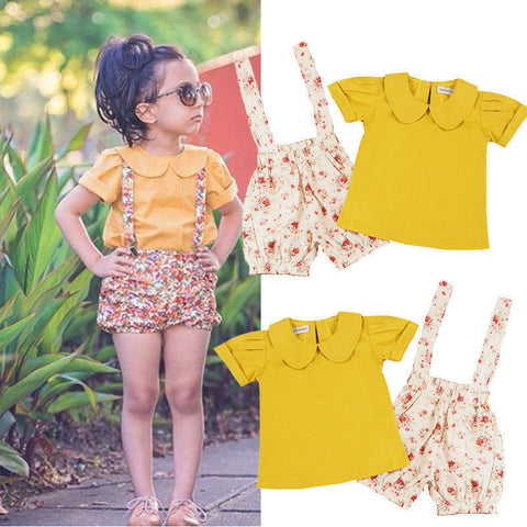 Baby Girl Summer Top and Shorts 2pc set - The Pickle and Potato