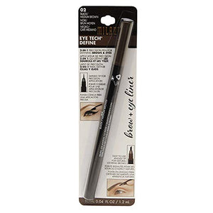 Milani Eye Tech Define 2-in-1 Brow+Eyeliner Felt-tip Pen - Natural Taupe/Black