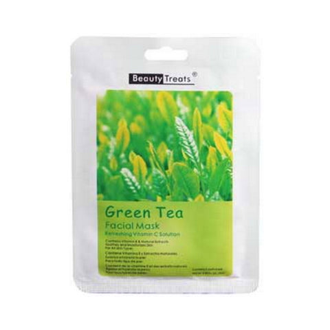 BEAUTY TREATS Facial Mask Refreshing Vitamin C Solution -  Green Tea