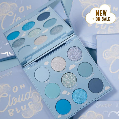 Colourpop Eyeshadow Palette - On Cloud Blue (Unboxed)