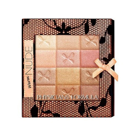Physician's Formula Shimmer Strips All-In-1 Custom Nude Palette for Face and Eyes (Warm Nude)