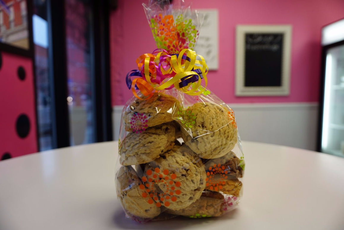 Decorative Cookie Bag Filled With Cookies