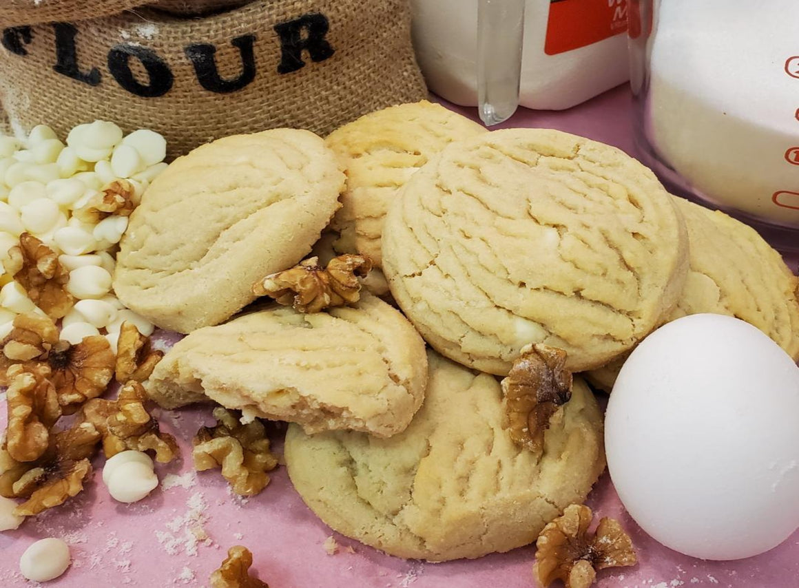 White Chip Nut Cookies