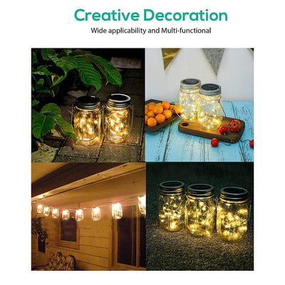 Fairy Firefly Lights  8.pcs  Pack. Handles,10 Led String - Lights Lids Insert