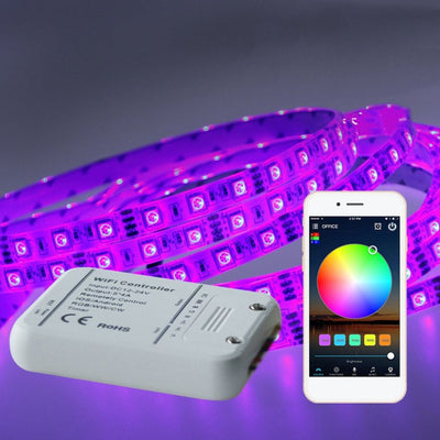 LED Strip Color RGB Wireless WIFI RGB Controller for IOS Android Smartphones