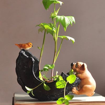 Amazing Cute Dog Animal Decorative Flowerpot Succulent And Bonsai