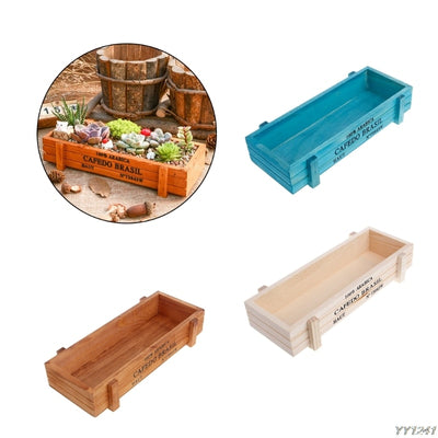 Decorative Vintage Succulent Wooden Boxes