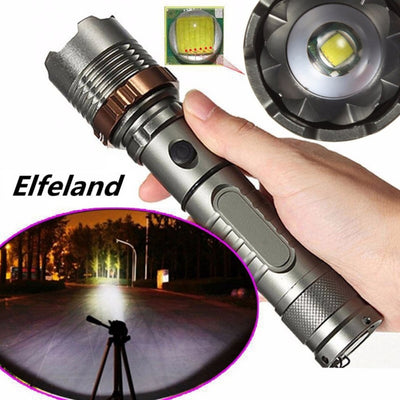 Tactical Military T6 Flashlight Rechargeable Zoom-able