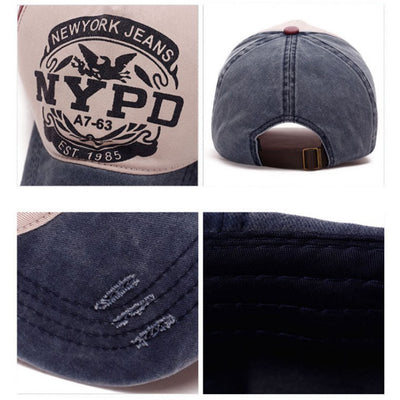 Baseball Cap NYPD - Super Comfy  Sand washed 100% cotton  Women/Men- Unisex