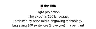 Light Projection I LOVE YOU Necklace
