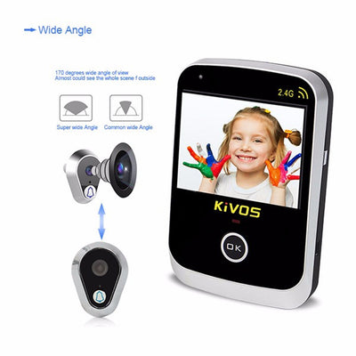 Video Doorbell Wide Angle Lens Camera Monitor