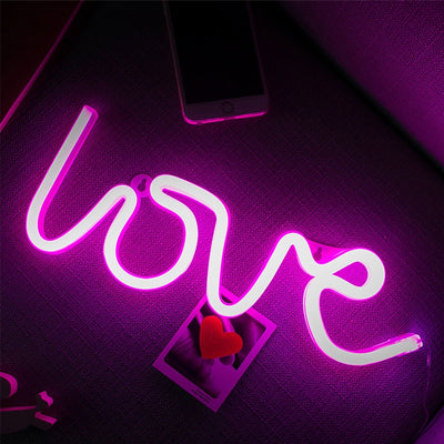 Cozy LED Neon Lights. Love. Flamingo, Letters, Cactus, Heart, Cloud and more...