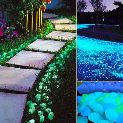 Glow In The Dark Garden Pebbles 100 pcs