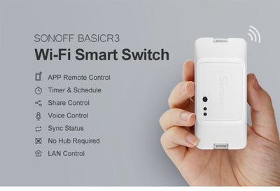 Sonoff Model R3 Wifi Switch As Wireless Remote On/Off And Timer - Any Devices