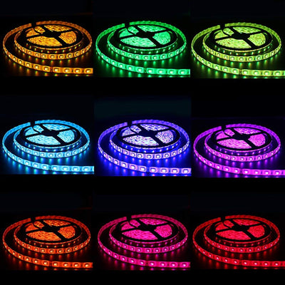 WIFI LED Strip RGB Waterproof +Touch Remote +I Controller Amplifier+ 12V LED Power Supply