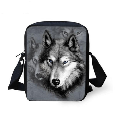 Wolf Messenger Bag