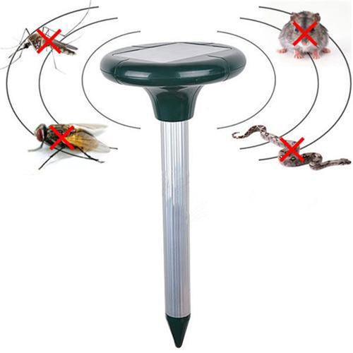 Solar-Powered Sonic Pest Repeller