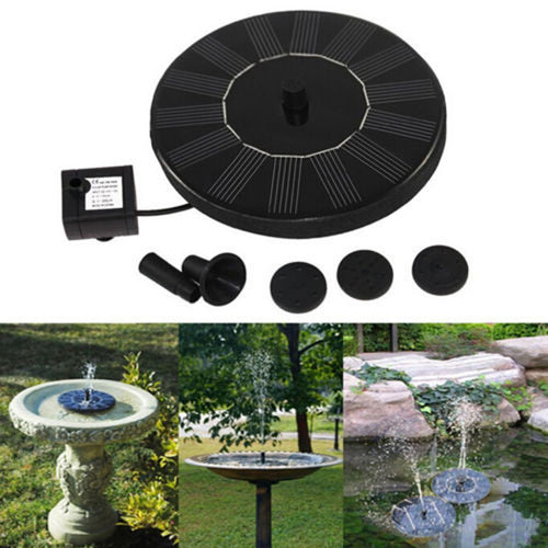Solar Powered Easy Bird Fountain Kit - Great Addition To Your Garden!