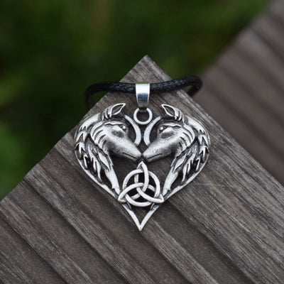 Celtic Wolf Love Necklace