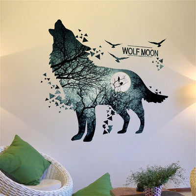 Night Wolf Wall Stickers
