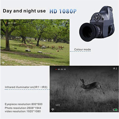 PARD Infrared Hunting Night Vision IR Monocular Telescopes Video Record Device night vision riflescope Quick disassembly NV007
