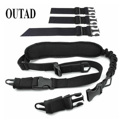 Tactical Gun Sling Belt Single Point Mount Bungee