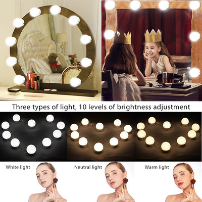 Hollywood Style LED Vanity Mirror Lights Kit