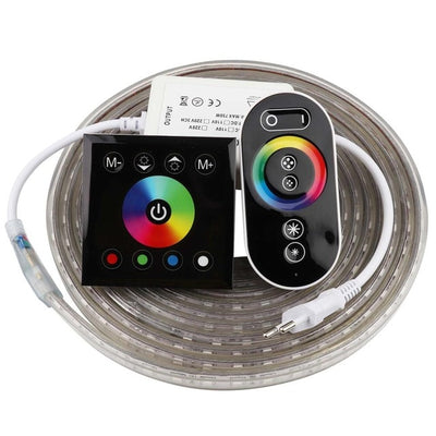 Touch Remote control RGB LED Strip Waterproof 220V