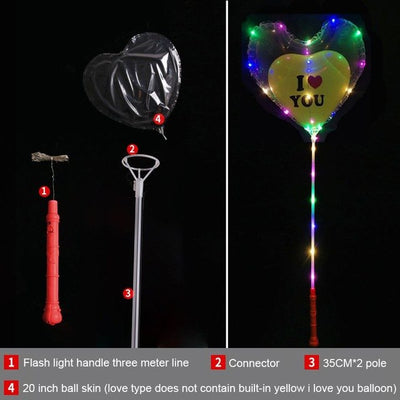 4.pcs Luminous Led Balloon & Hearth Type. LED Light Wedding Decor Birthday Party