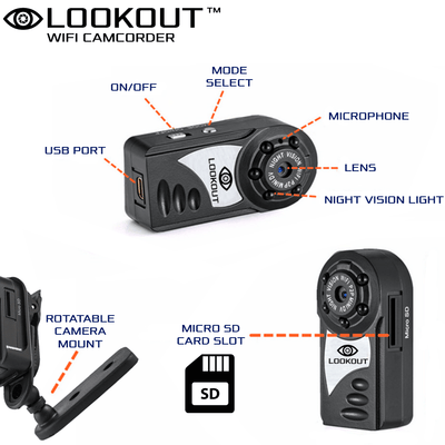 Lookout Wifi Camcorder