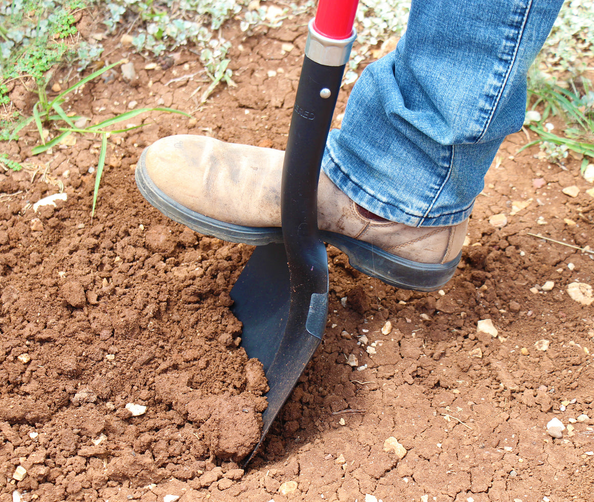 "TABOR TOOLS J202 Digging  Shovel With Rounded Blade and Strong Straight 45"" Fiberglass Handle"