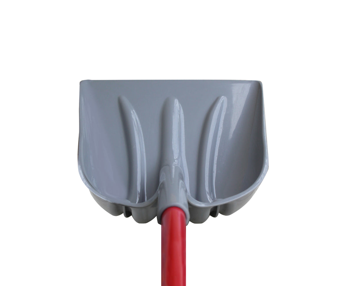 TABOR TOOLS J218 Snow Scoop With Strong Fiberglass D-Grip Handle