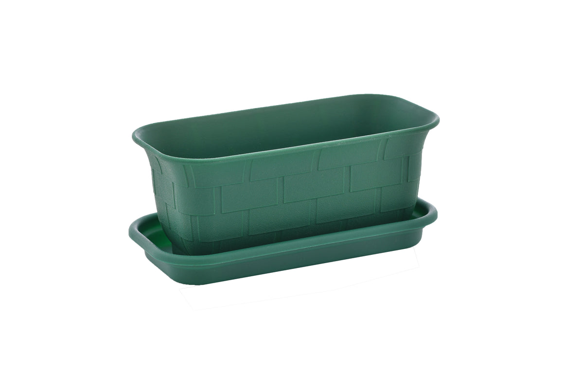 "TABOR TOOLS 10'' Mini Window Box Planter Plastic Window Box Planter, for Indoor and Outdoor Use. (10"", Dark Green) ZG658A"