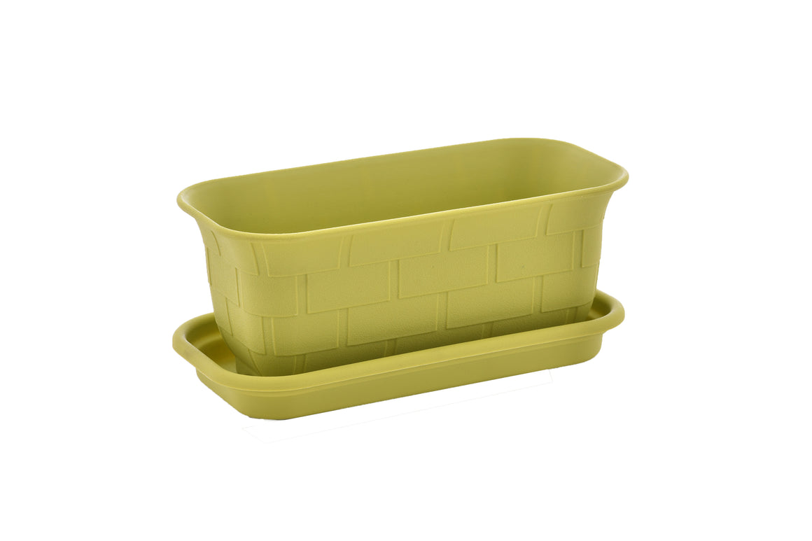 "TABOR TOOLS 10'' Mini Window Box Planter Plastic Window Box Planter, for Indoor and Outdoor Use. (10"", Green) ZG659A"